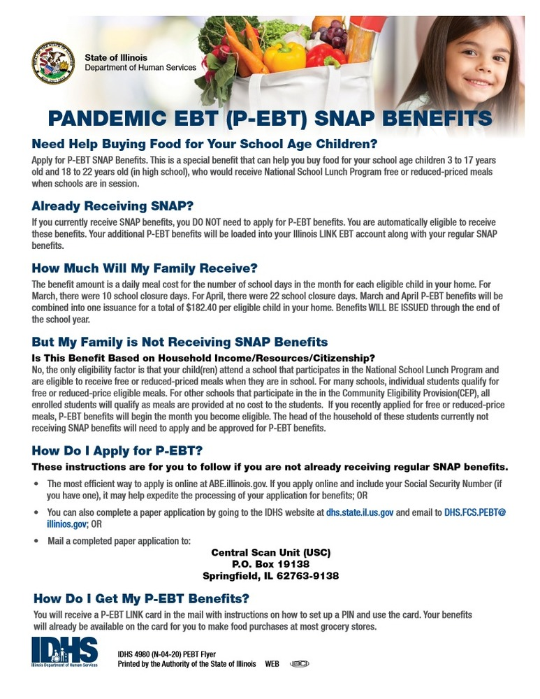 Pandemic EBT SNAP Benefits