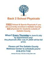 Back to School Physicals