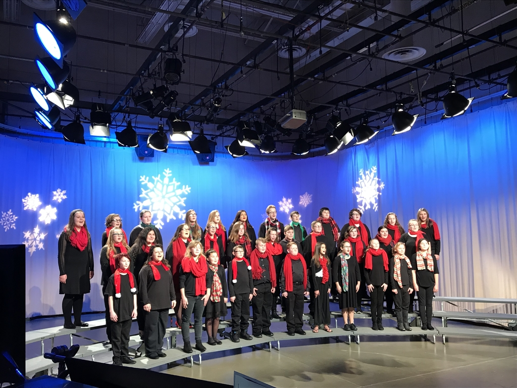 "Gallatin County Choir recording at ""Sounds of the Season"" at SIU"