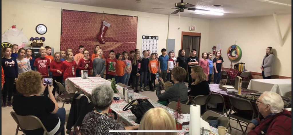 3rd grade singing for the residents of the nursing home!