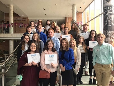 FBLA members at SIU-C Southern Area Conference