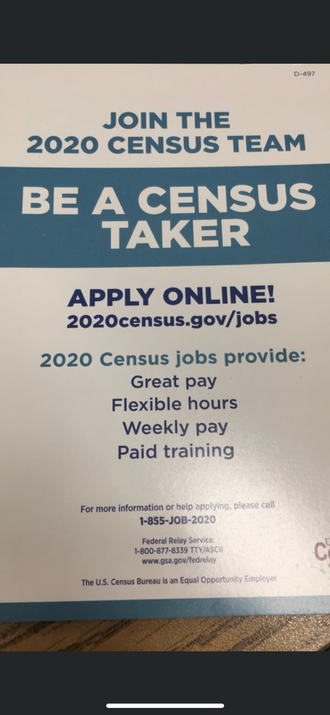 17.50 an hour!  Census takers needed!