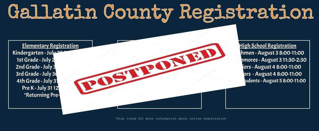 Registration Postponed